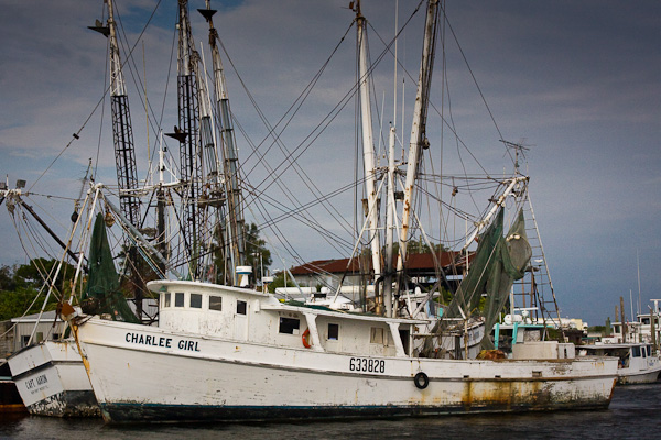 Shrimp Boats at the docks in Tarpon Springs.