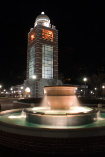 Fountain and Bell Tower on the University of Arkansas Fort Smith Campus