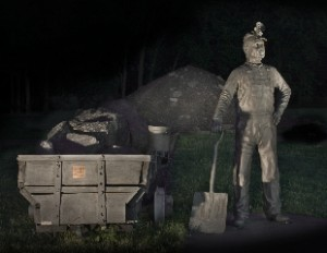 "Coal Miner Statue Greenwood AR  15 sec. f/8 ""Painted with Light"""