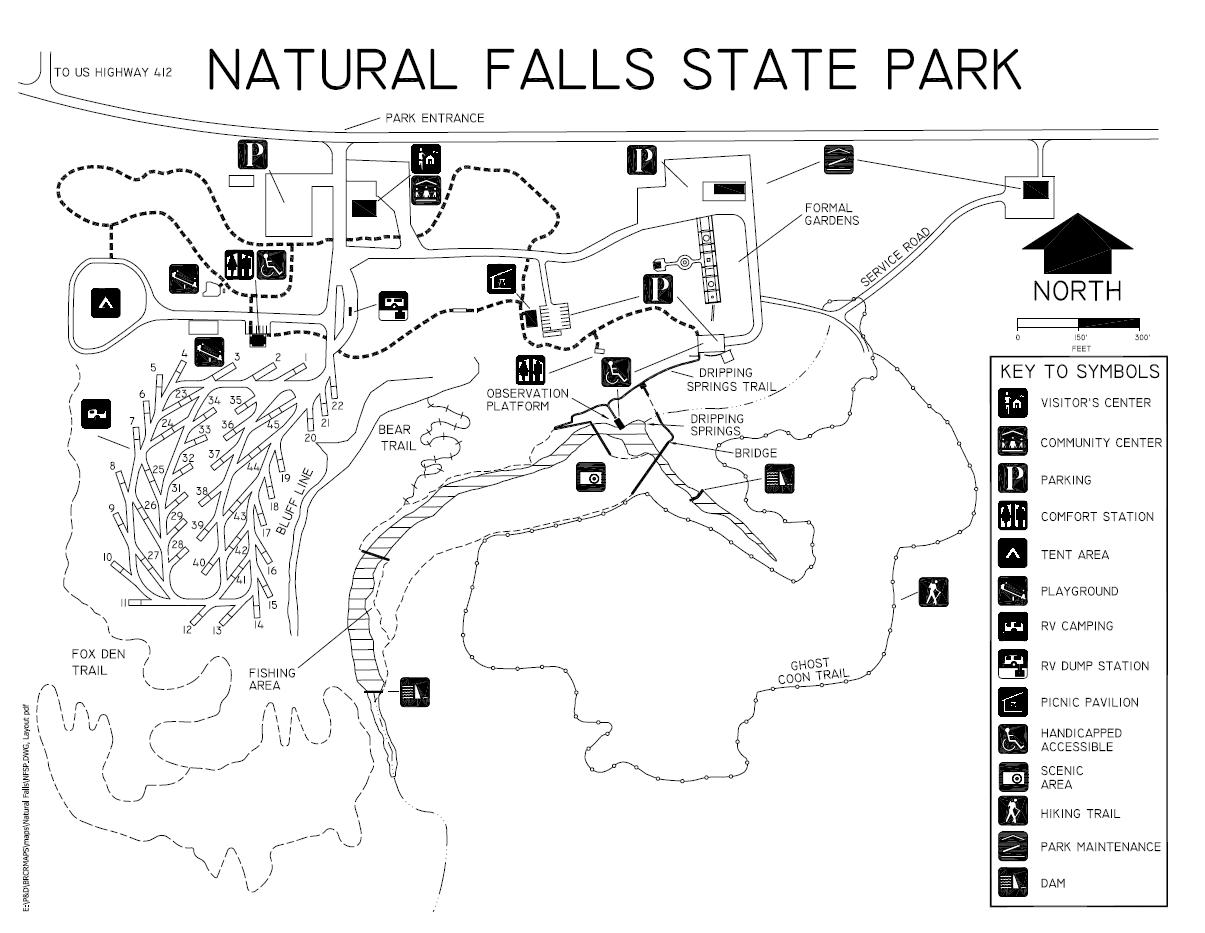 Natural Falls State Park Oklahoma Map