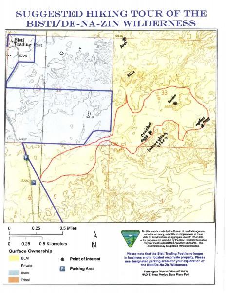 Bisti Map