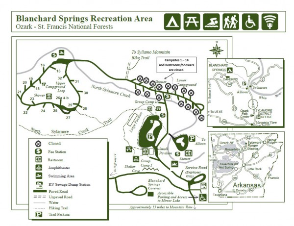 Blanchard Springs Map