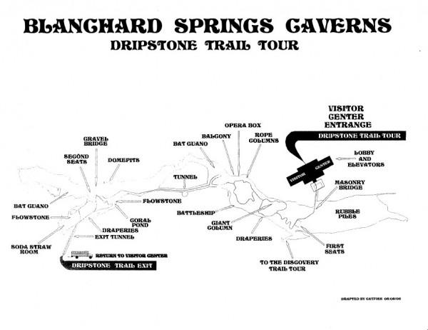 Dripstone Trail Map