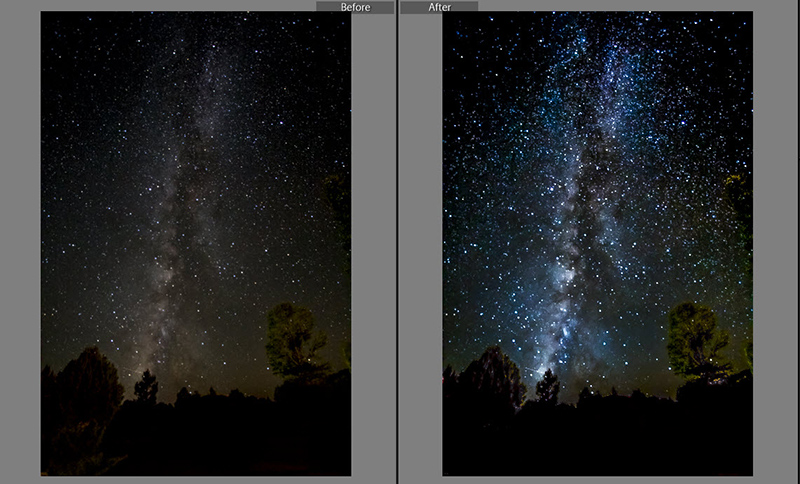 Before and after Milky Way
