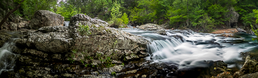 Little Missouri Falls after a heavy rain, in the Ouchita National Forest in Arkansas.